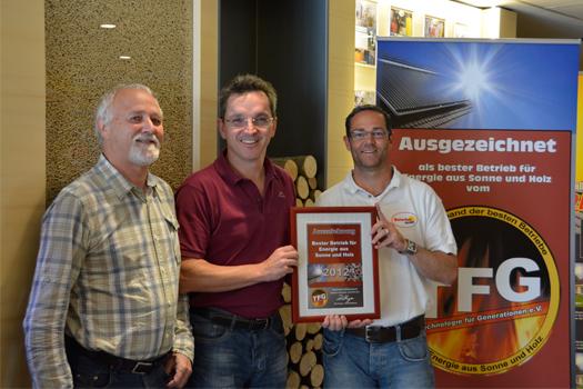 Bester Betrieb für Energie aus Sonne und Holz 2012