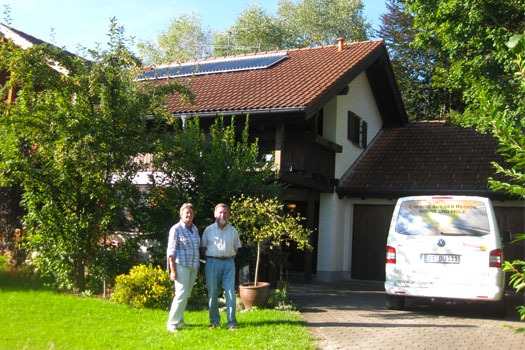 Die Solar-Anlage liefert Wärme