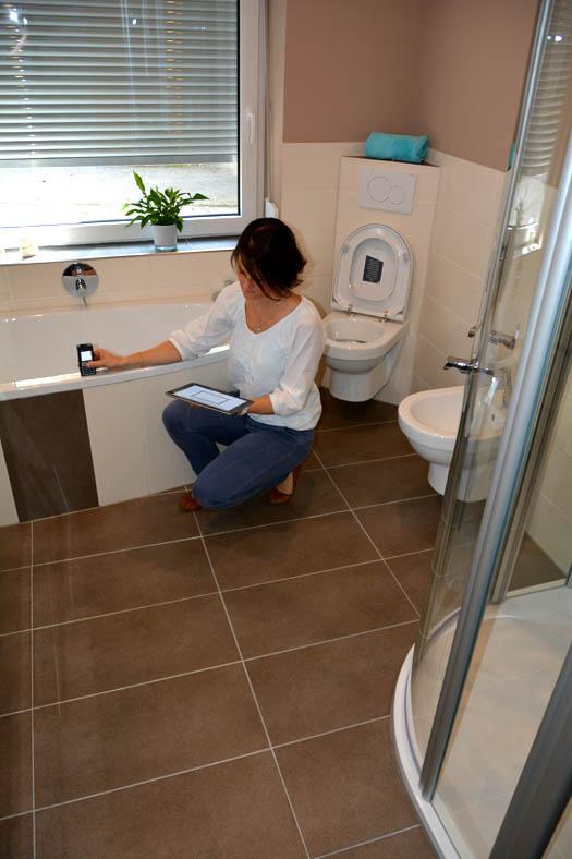 Frau Rathke vermisst das Bad durch Bluetooth-Scan